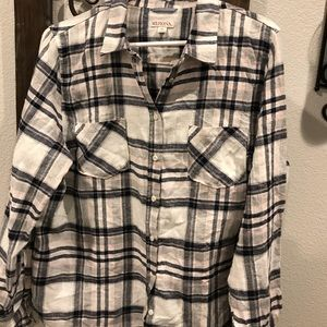 Merona  flannel shirt. Crm,pink,navy. Cozy. Sz XL